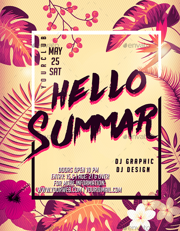 hello summer party flyer by luckyinspiron graphicriver