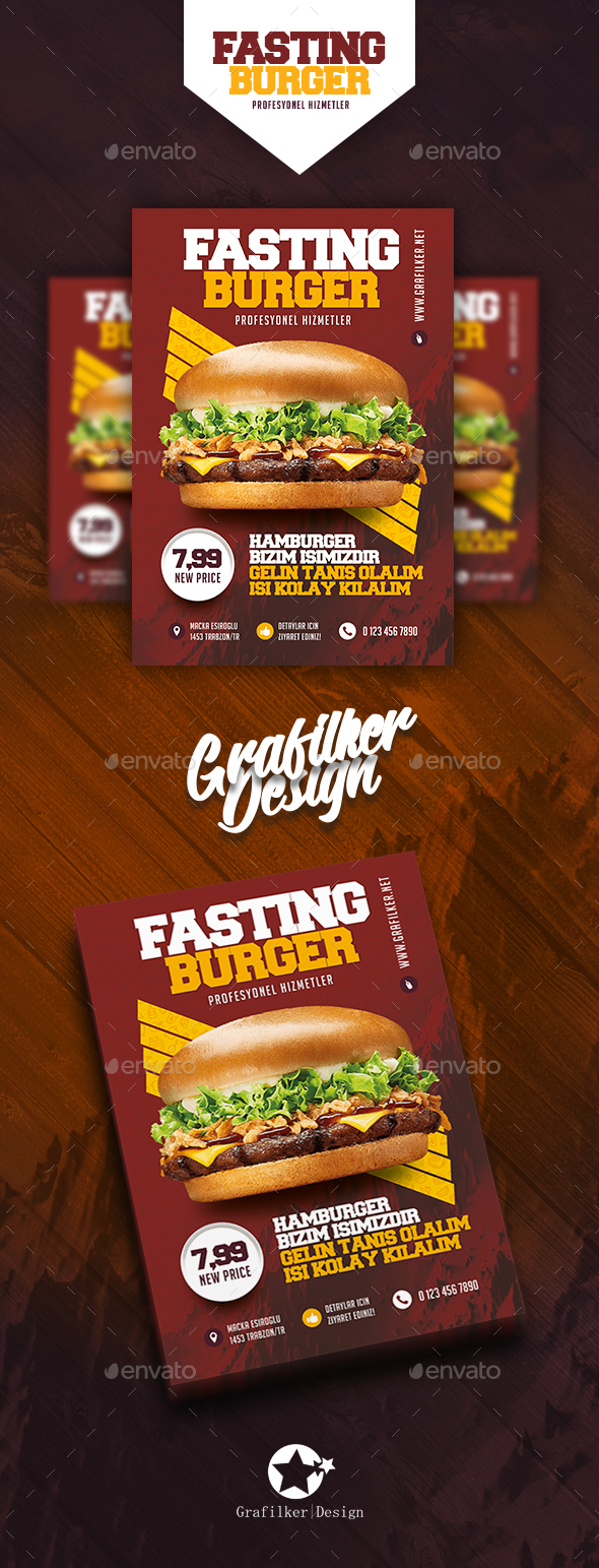 Fast Food Burger Flyer Templates - Restaurant Flyers