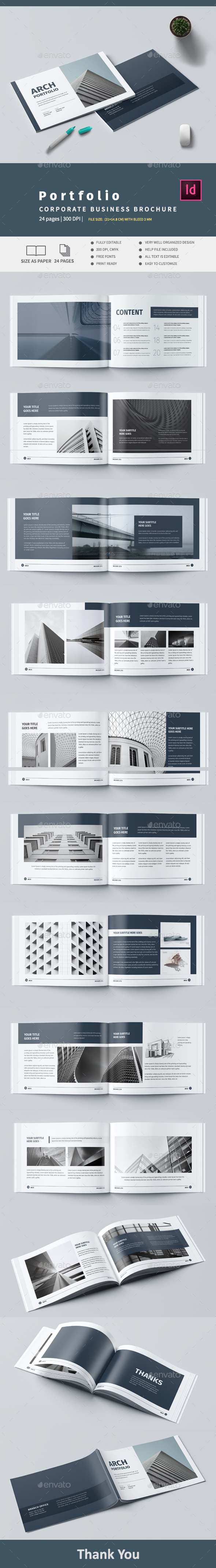 Modern Architecture Brochure - Brochures Print Templates