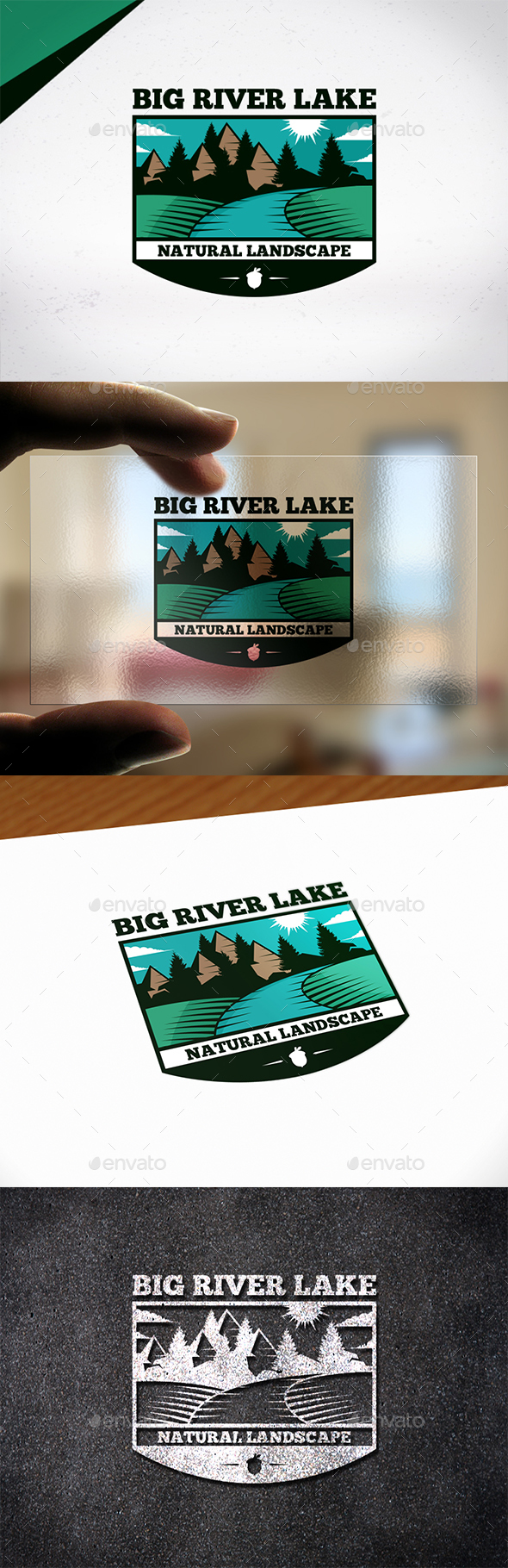 Big River Lake Logo Template - Crests Logo Templates