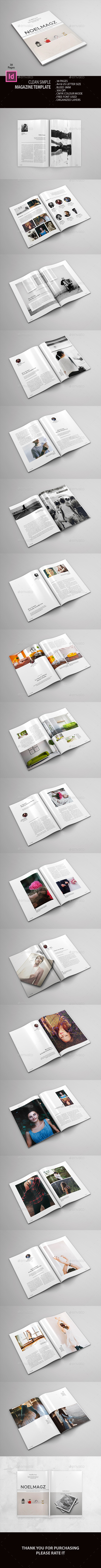 Clean Simple Magazine - Magazines Print Templates