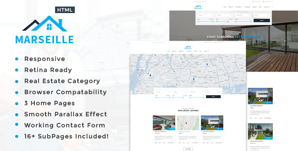 Marseille - Responsive HTML5 Template for Property Developers - Business Corporate