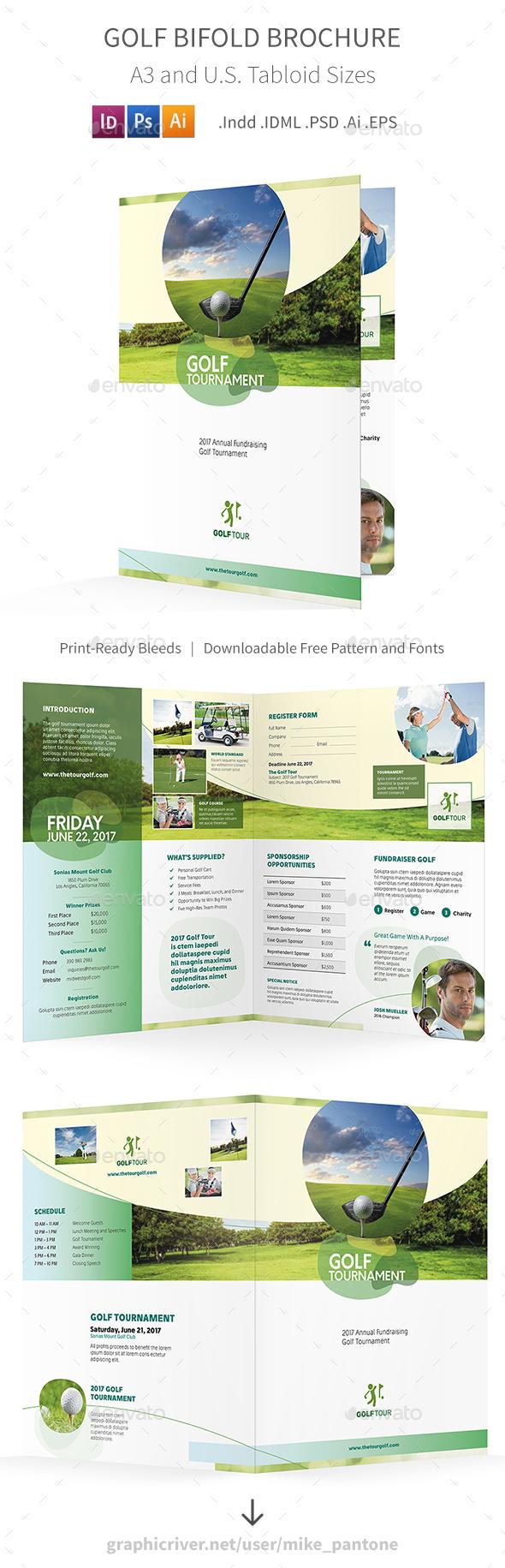Golf Bifold / Halffold Brochure 6 - Informational Brochures