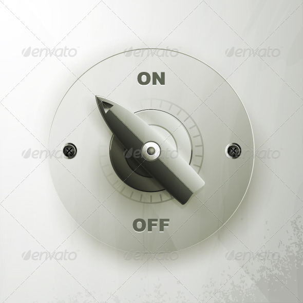 On off switch on a gray background - Objects Vectors