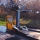 A Small Cable Car on the Hillside with a Blank Yellow Booths in Svetlogorsk, Russia - VideoHive Item for Sale