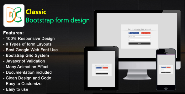 Classic - Responsive Bootstrap Form - CodeCanyon Item for Sale