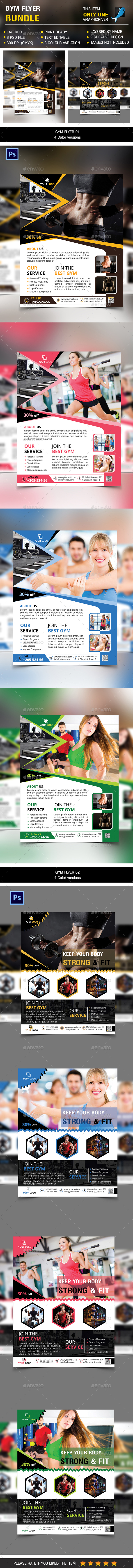Gym flyer Bundle