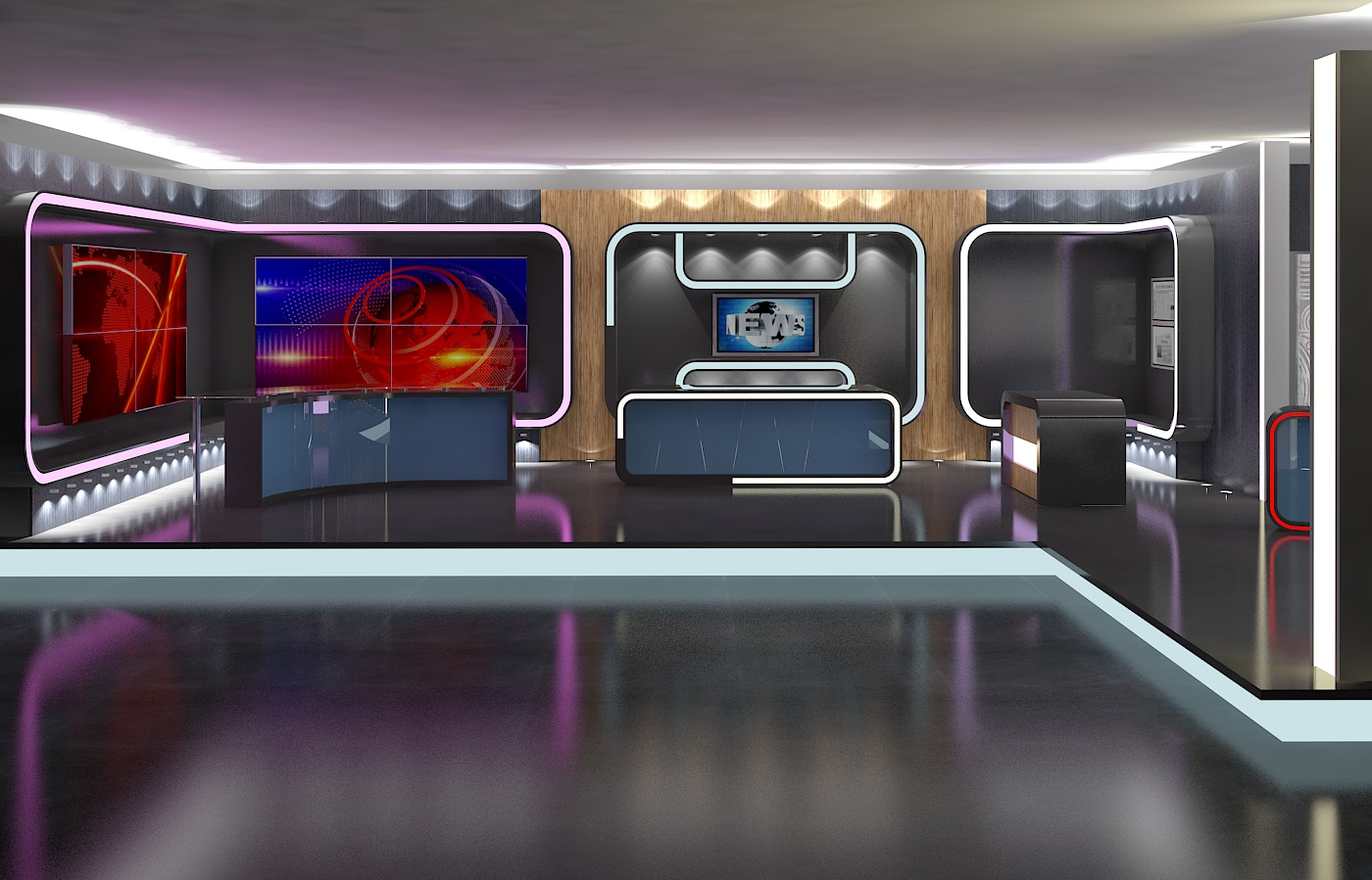 3d Virtual Tv Studio News Set 16 By Canan85 3docean