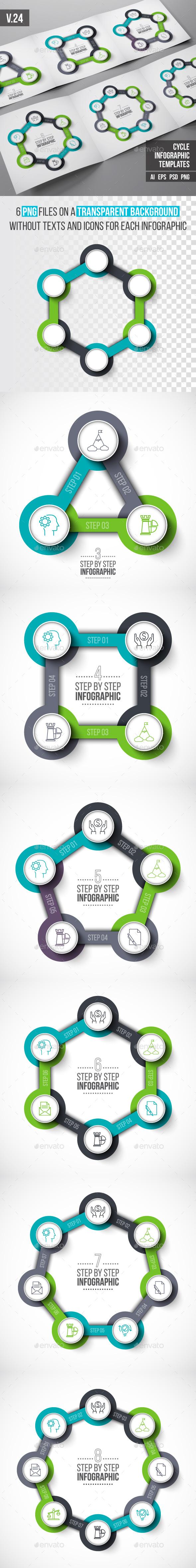Infographics template set v.24 - Infographics