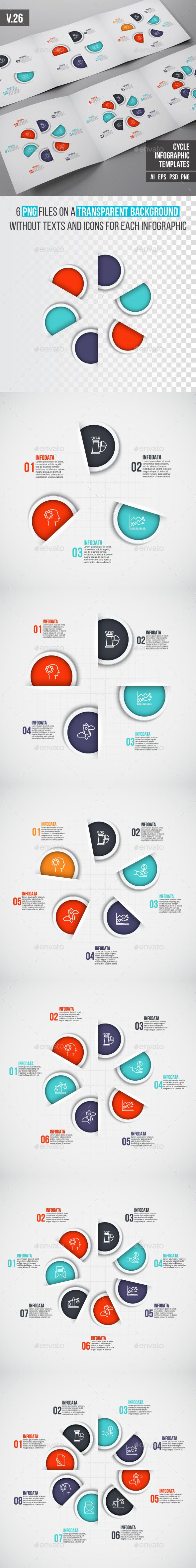 Infographics template set v.26 - Infographics