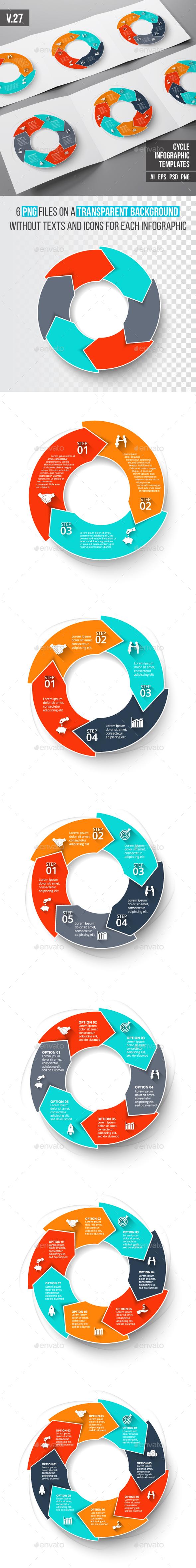 Infographics template set v.27 - Infographics