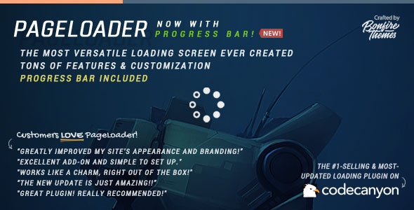 pageloader loading screen and progress bar for wordpress codecanyon item for sale