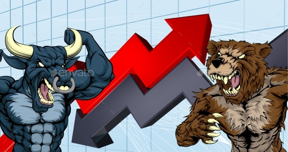 Bears Versus Bulls Stock Market Concept - Concepts Business