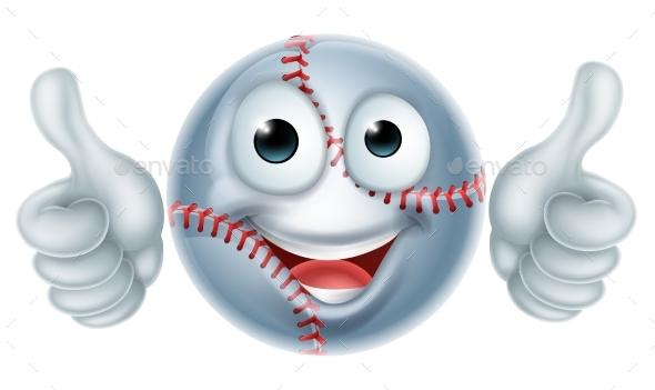 Cartoon Baseball Ball Man Character - Miscellaneous Characters