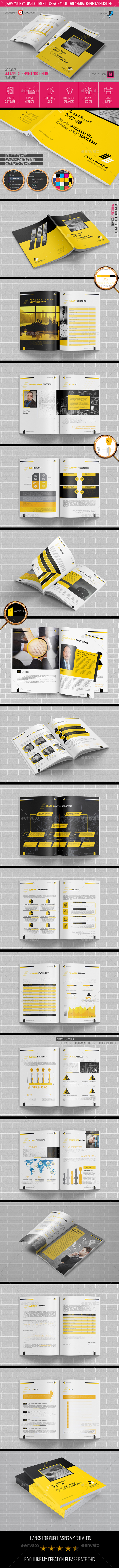 Annual Report Brochure Template 2018 - Brochures Print Templates