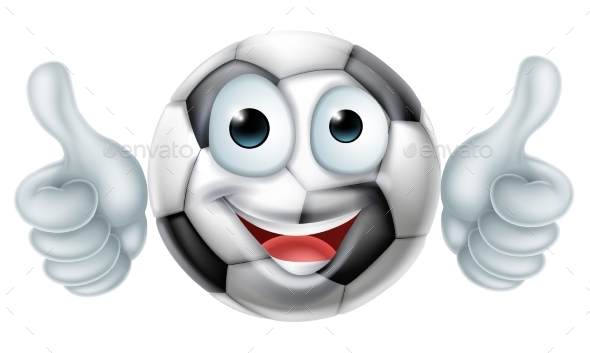 Cartoon Soccer Ball Man Character - Sports/Activity Conceptual
