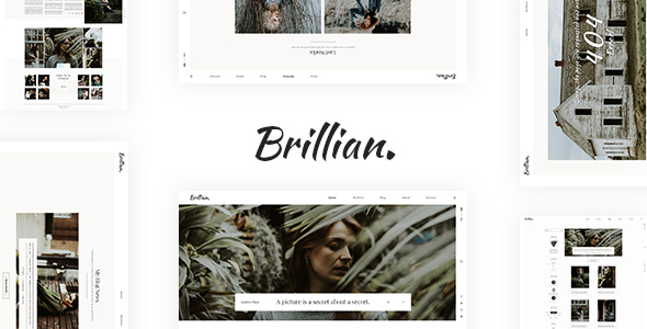 BRILLIAN - Photography, Personal, Blog HTML Template
