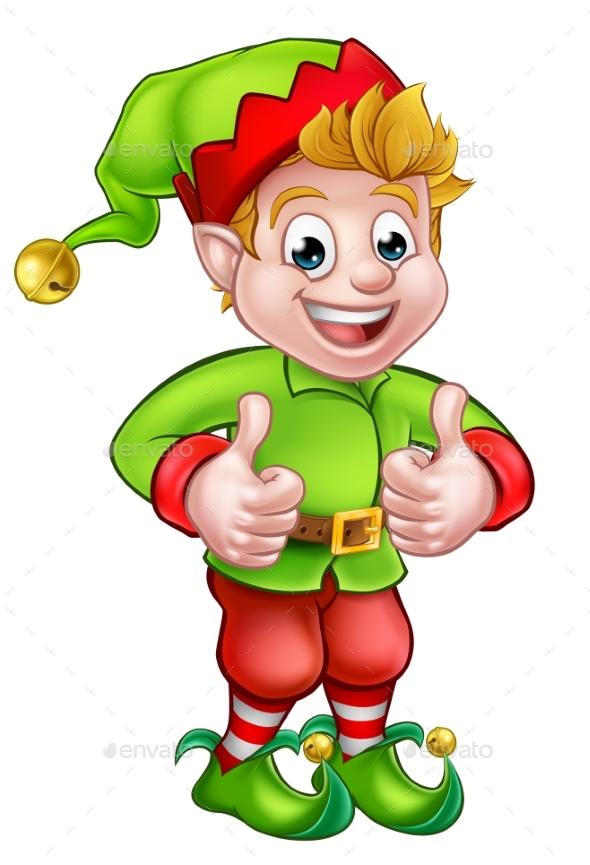 Cartoon christmas elf by krisdog graphicriver