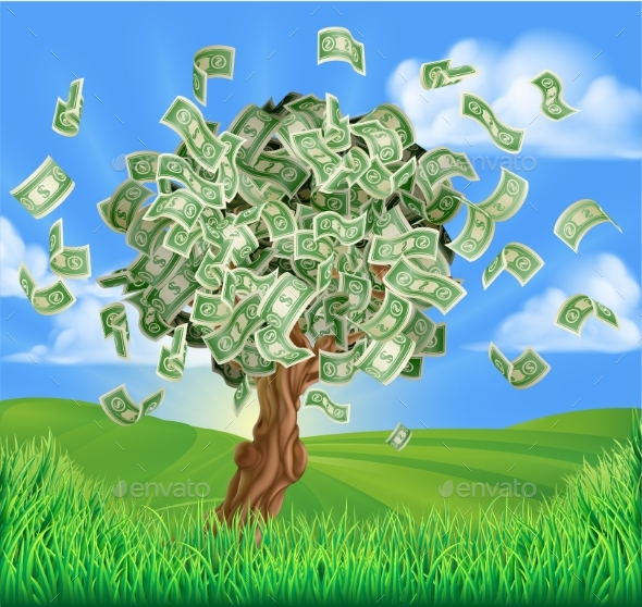 Money Tree Concept - Concepts Business