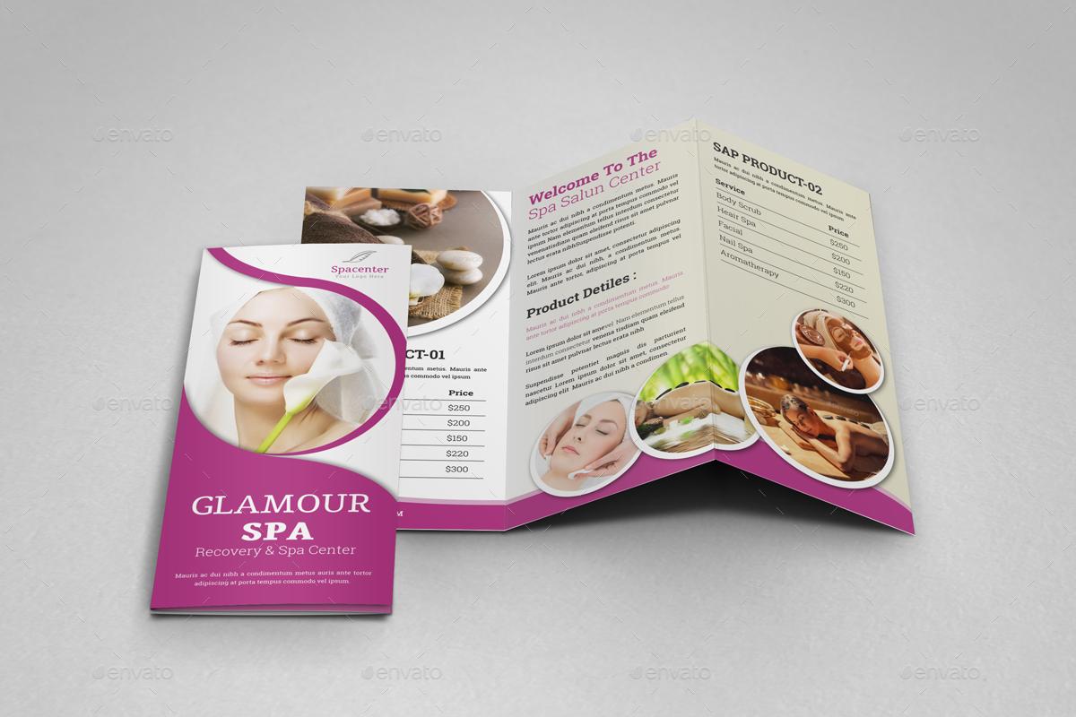Spa & Beauty Salon Trifold Brochure 2 by JanySultana   GraphicRiver