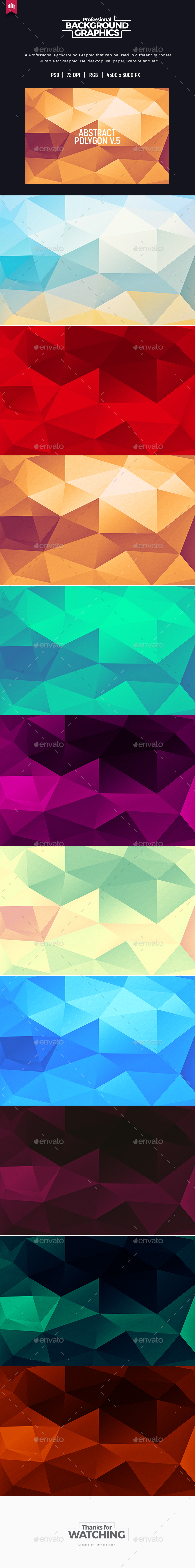 Abstract Polygon V.5 - Background - Abstract Backgrounds