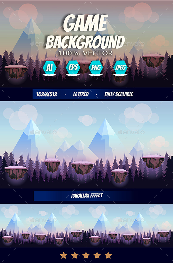 Cartoon Game Background - Backgrounds Game Assets