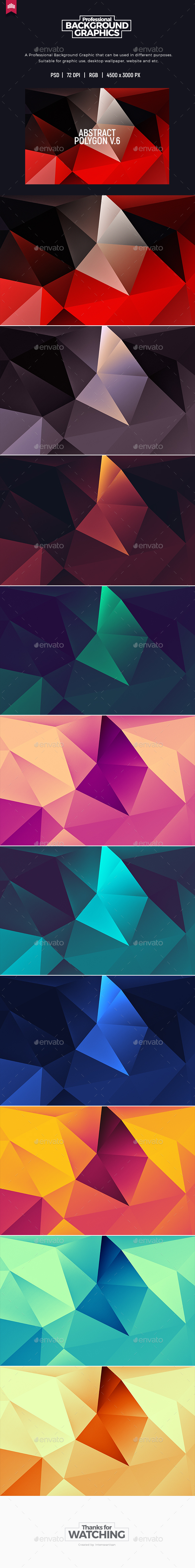 Abstract Polygon V.6 - Background - Abstract Backgrounds