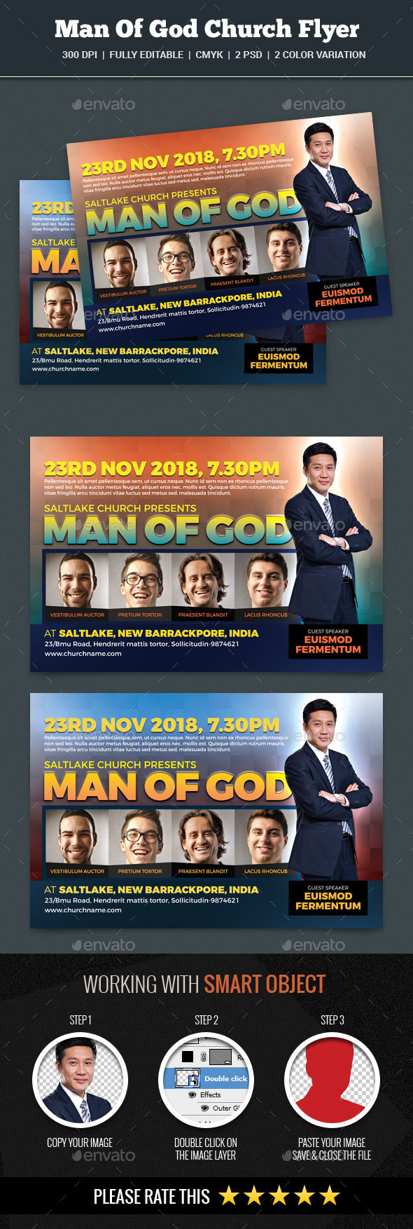 Man Of God Church Flyer - Church Flyers
