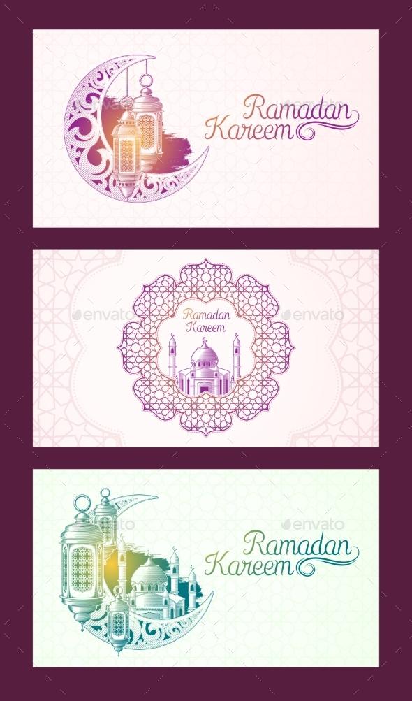 Banners for Ramadan Kareem - Religion Conceptual