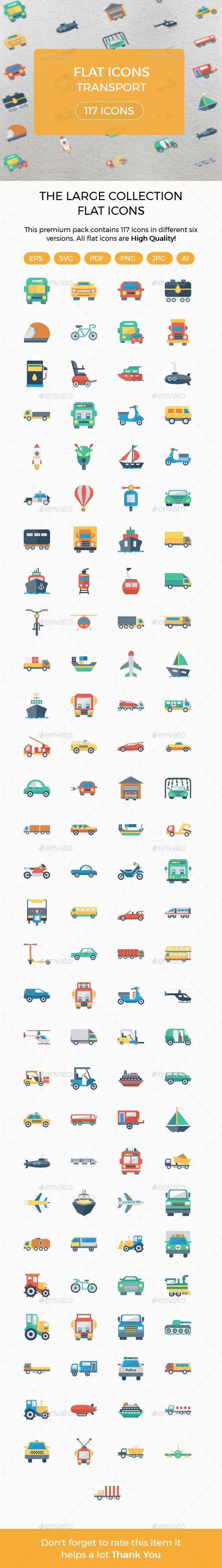 Transport Flat icons - Business Icons