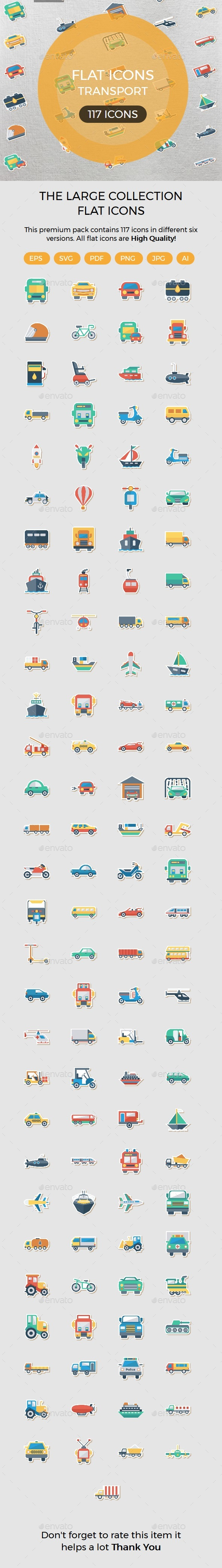 Transport Flat Paper icons - Icons