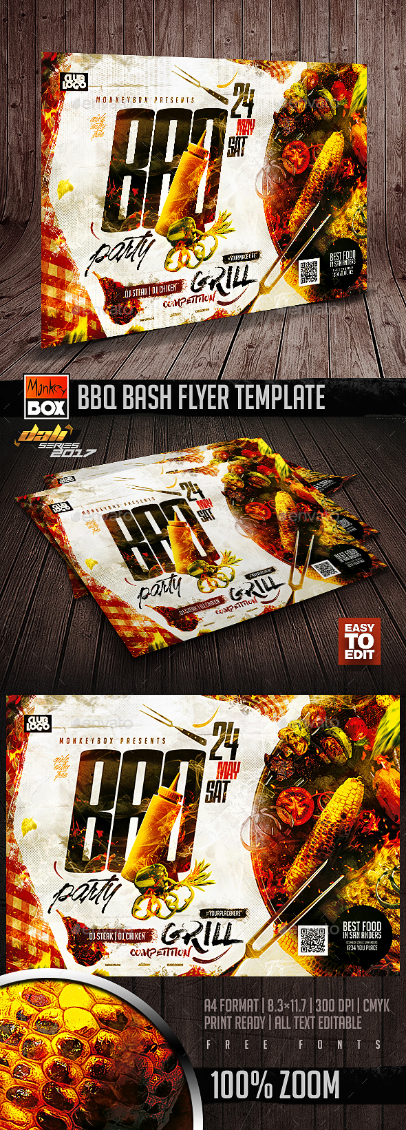 BBQ Bash Flyer Template - Events Flyers