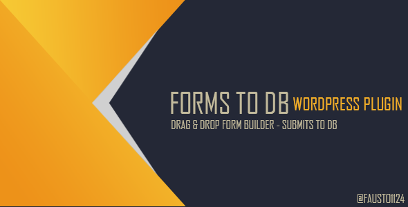 Forms To DB - Wordpress Plugin to Save Forms in DB and xls - CodeCanyon Item for Sale