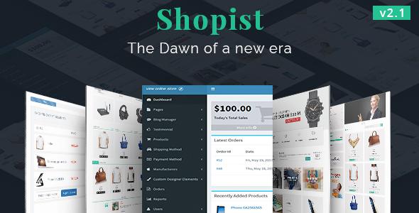 Shopist | Laravel eCommerce and Designer - CodeCanyon Item for Sale