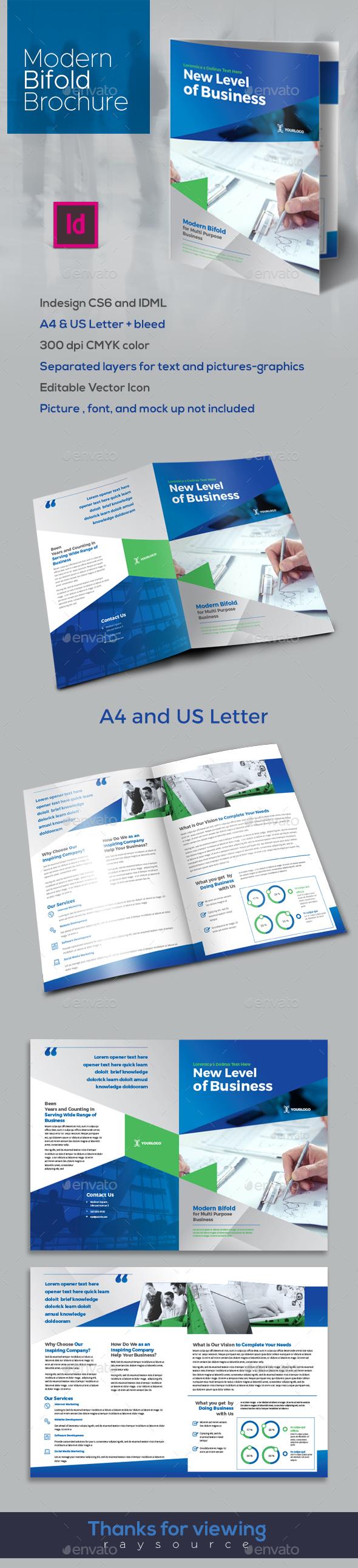 Modern Bifold Brochure - Brochures Print Templates