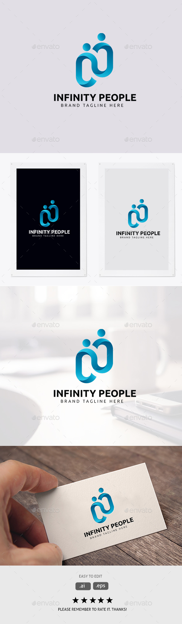 Infinity People - Symbols Logo Templates