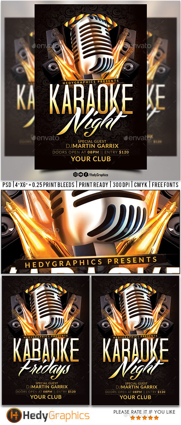 Karaoke Flyer - Clubs & Parties Events
