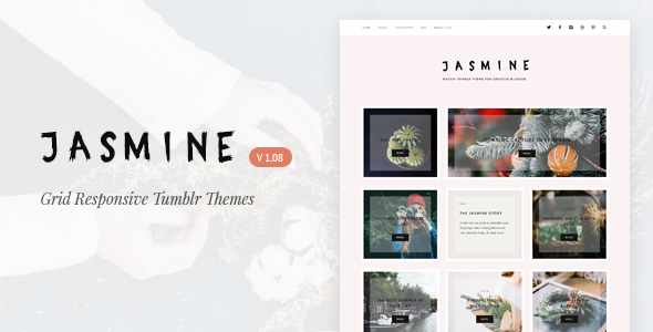 Jasmine | Grid Responsive Tumblr Theme - Blog Tumblr