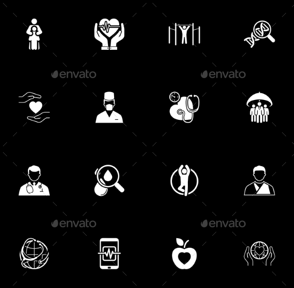 Medical and Health Care Icons Set. Flat Design. - Technology Icons