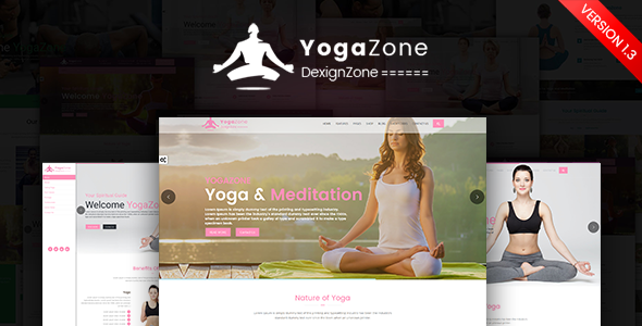 YogaZone: Yoga, Fitness & Meditation Mobile Responsive Bootstrap Html Template
