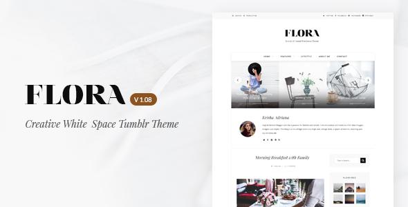 Flora | Responsive Tumblr Theme - Blog Tumblr