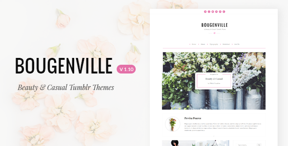 Bougenville | Beautiful & Casual Tumblr Theme - Blog Tumblr