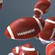 Flying American Footbal Loop Background - VideoHive Item for Sale