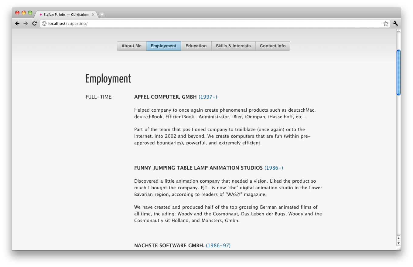 Cupertino CV / Resume One Page HTML Template by helipad | ThemeForest