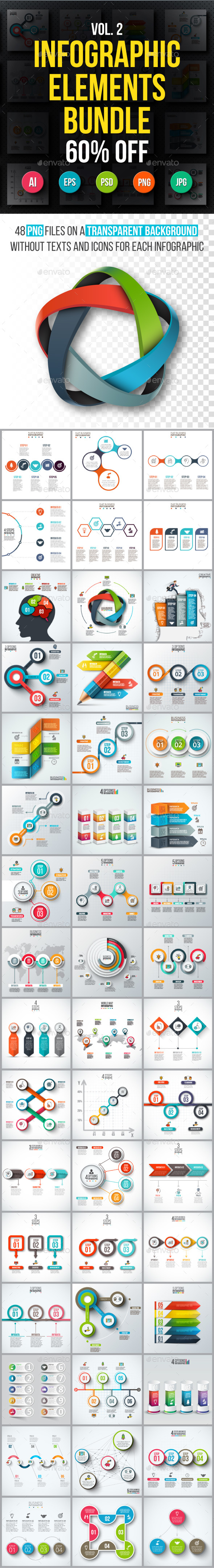 Infographic elements bundle v.02 - Infographics