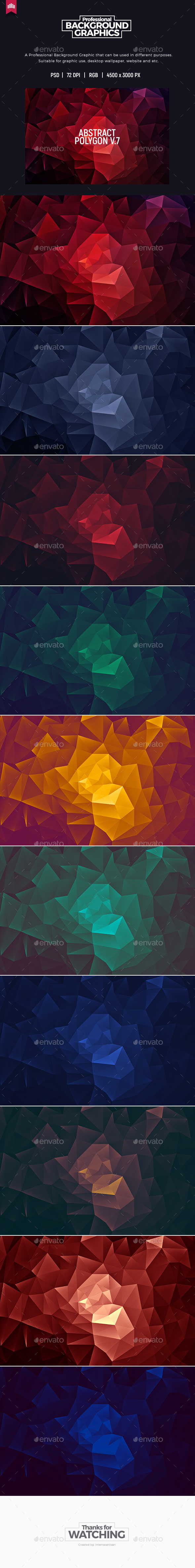 Abstract Polygon V.7 - Background - Abstract Backgrounds