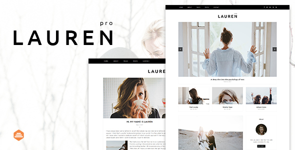 Lauren – Personal & Clean Blog Template