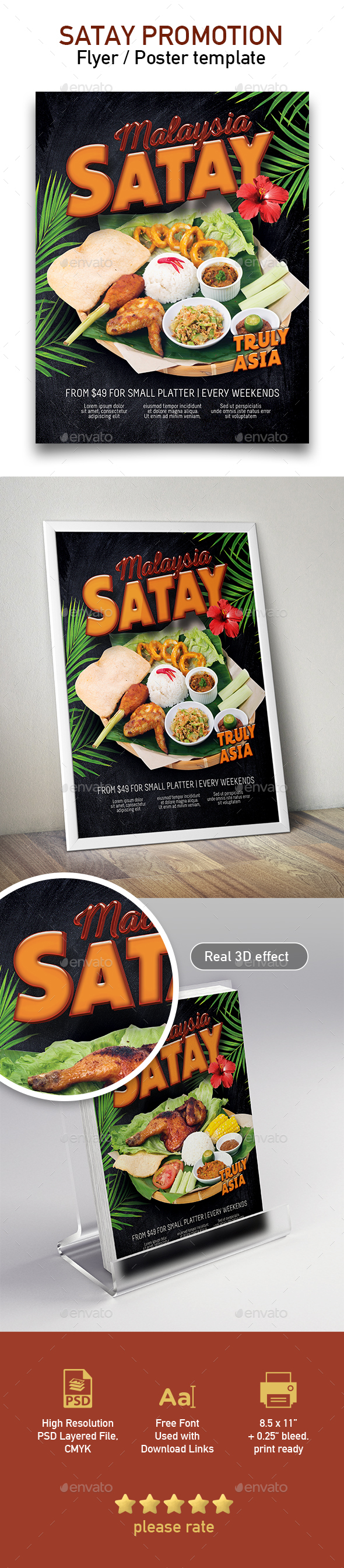 Template of Malaysia Food Restaurant Menu - Restaurant Flyers