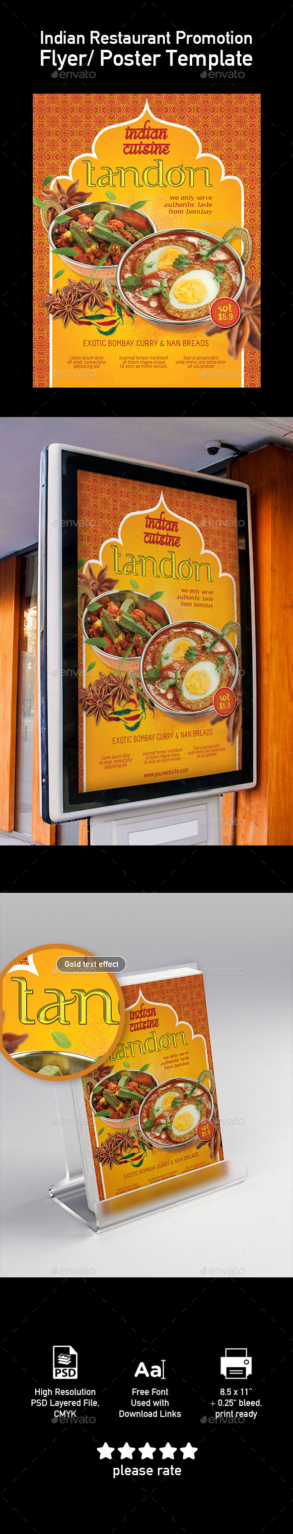Template of India Food Restaurant Menu - Restaurant Flyers