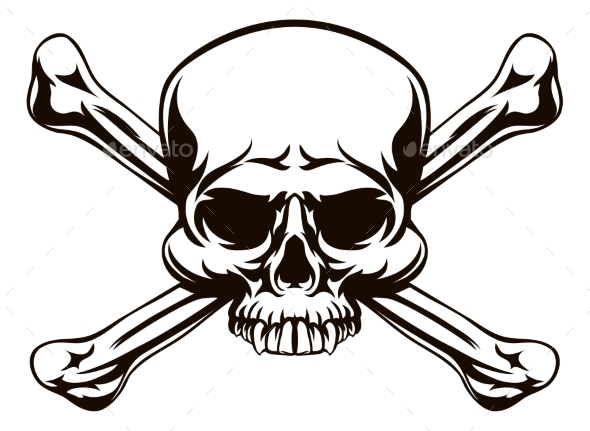 Skull and Cross Bones Sign - Miscellaneous Vectors
